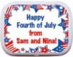 personalized patriotic candy tin